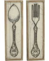 Wood Fork And Spoon Wall Hanging by Fork And Spoon Wall Decor Sales U0026 Deals