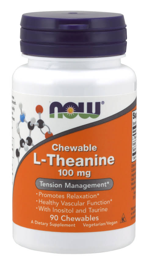 Now Foods L-theanine - 100mg, 90 Chewables