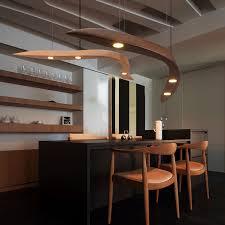 designer kreative anhänger licht moderne einfache kunst restaurant led massivholz anhänger le gebogen wohnzimmer le freies verschiffen