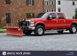 100 Truck With Snow Plow Ford Pickup Truck With Snow Plow Attachment Stock Photo 135764284