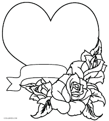 Coloring Pages With Hearts And Flowers Heart Roses Wings Halo Printable