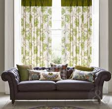 Amazon Curtains Living Room by Just Contempo Floral Cotton Canvas Eyelet Lined Curtains Green
