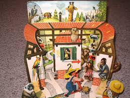 Tip Top At The Zoo Pop Up Book Uncommon Vintage Kubasta Czech 1961