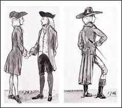 MENS COAT DRAWINGS 1783 1786