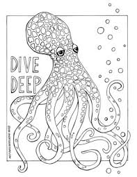 377 best Coloring pages to print Underwater images on Pinterest