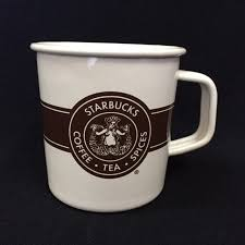 Starbucks Original Pike Place Logo Enamel Metal Coffee Tea Mug 14oz