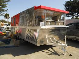 Photo Of Very Rare 24 Foot Dual Axle 1961 Holiday House Vintage Trailer At Pismo 2013 Rally