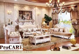 italienisch blau stoff sofa setzt wohnzimmer möbel antiken stil holz sofa barock möbel foshan markt