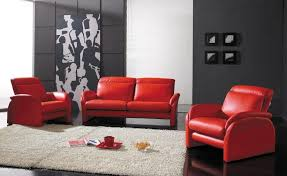 Red Leather Couch Living Room Ideas by Living Room Comfortable Dark Red Leather L Shape Sofa With