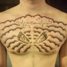 Cloud Shading Chest Tattoo