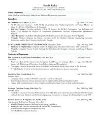 Internship Resume Samples For Computer Science Templates Power Statement Professional Experience