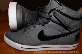 Mens NEW BIG Nike High AC Vintage Grey Leather Trainers