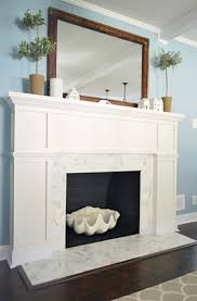 our 200 fireplace makeover marble tile a new mantel