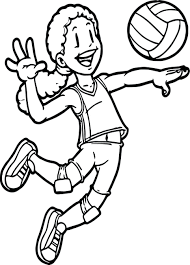 Coloring Pages Sports Cars Free Printable Car Sheets To Print Kids Playing Volleyball