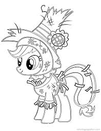 My Little Pony Coloring Pages HAPPY APPLEJACK CASTEL