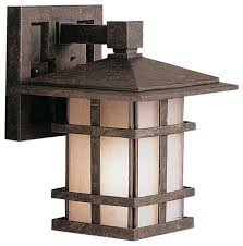 kichler cross creek arts and crafts mission outdoor wall sconce x