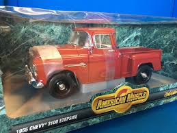100 Stepside Trucks Ertl American Muscle Die Cast 1955 Chevy 3100 Pickup Truck