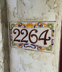 painted house numbers house number plaque italian house