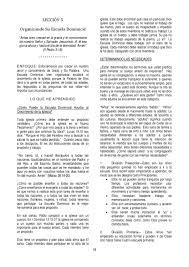 Leccion 5 Organizando Su Escuela Biblica Dominical By Manuel