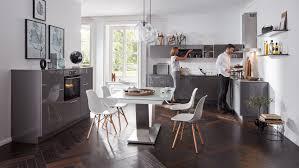 wohnliche l form küche interliving serie 3007 mit front in hochglanz quarzgrau