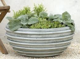 Rustic Garden Planter Pots And Planters Large Contemporary Outdoor By The