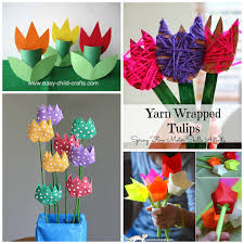 Beautiful Tulip Crafts That Kids Can Make Crafty Morning Astonishing Decoration Easy Paper For
