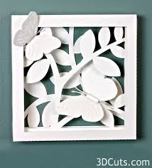 White On Ashbee Design Butterfly Shadow Box