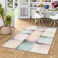 designer teppich pastell rosa karo verlauf