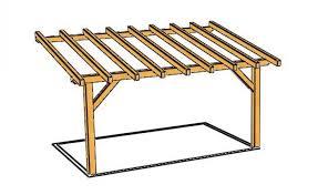 construire une pergola en bois plan construire une pergola en