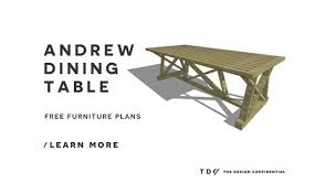 free diy furniture plans how to build an andrew table the