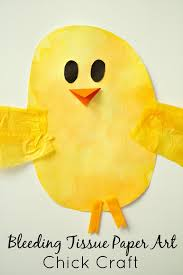 Easter Craft For Kidsbleeding Tissue Paper Art Chick