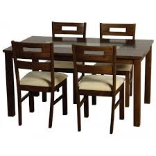 Cheap Seconique Chatsworth Walnut Frosted Glass Dining Table Set 4 Chairs For Sale Online