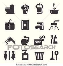 badezimmer symbol clipart k28250083 fotosearch