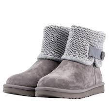 ugg shaina grey knit boots 1012534