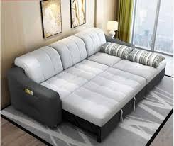 stoff sofa bett mit lagerung wohnzimmer möbel