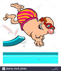 Springboard Diver Stock Photos