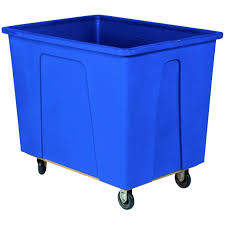 128 Gallon (16 Bushel) Blue Plastic Box Truck, 5