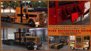 SPECIAL TRANSPORT ACCESSORIES + CATERPILLAR SKINS V1.0 MOD ... Peterbilt Bumper 579 Set Back Axle Elite Truck Accsories Extended Hood Front Grill For 379 19932007 Post Anything From Anywhere Customize Everything And Find Interior 389 Pack Ats Mods American Truck Simulator Exterior Red Skin Mod Simulator Custom Big Rigs Trailers Trucks Semi Parts 18 Wheelers Truckidcom 2017 72 Sleeper Manual Reefer Outlaw Customs