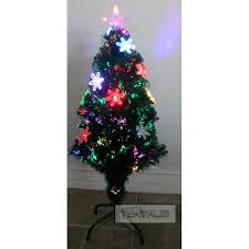 TEKTRUM 36 FIBER OPTIC LIGHTS TREE WITH 10 COLOR CHANGING SNOWFLAKE AND STAR TOP FOR