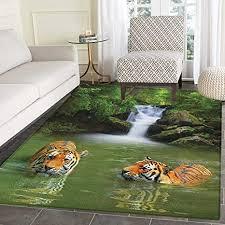 de safari teppich siberian tigers im wasserfall pool