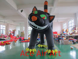 Halloween Inflatable Archway Tunnel by Gloomy Giant Halloween Inflatable Black Cat For Outdoor Party