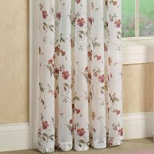 Crushed Voile Curtains Christmas Tree Shop by Princeton Sheer Floral Window Treatment