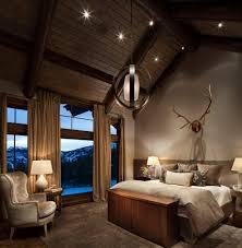 romantische schlafzimmer landhausstil einrichtung geweih