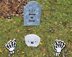 Halloween Tombstone Names by Outdoor Halloween Etsy