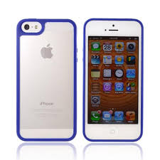 Protect w Apple iPhone 5 Hard Back w Gummy Crystal Silicone