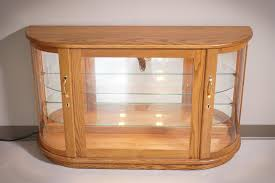 Curved Glass Curio Cabinet by Amish Large Curio Console Cabinet