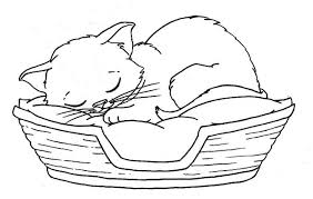 Printable Coloring Pages Of Baby Kittens Kitten Kids Pictures Christmas