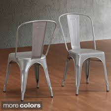 Tabouret Bistro Steel Side Chairs Set Of 2
