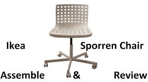 Ikea Snille Chair Hack by Unboxing Ikea Sporren Chair Unboxing Assemble U0026 Review Youtube