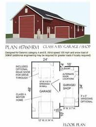 Large RV Garage For Class A Motorhome By Behm Design Has Lots Of Space And Side Shop Area Making This Versatile Building